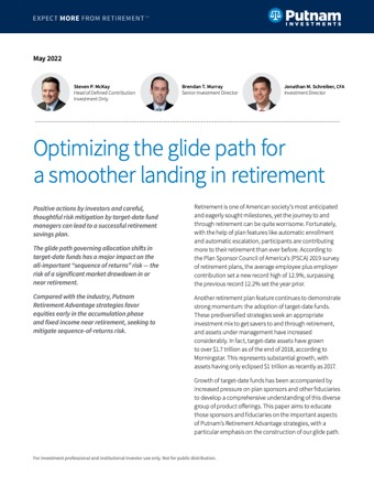 Optimizing the glide path for a smoother landing in retirement image