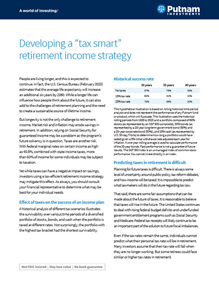 Developing a tax-smart retirement income strategy