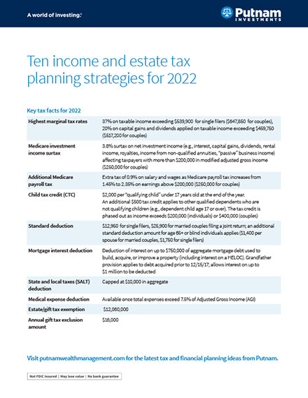 10 income and estate tax planning strategies for 2013
