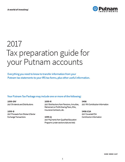 Tax Center Putnam Investments