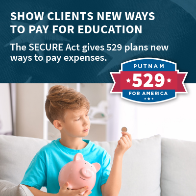 The SECURE Act gives 529 plans new ways to pay expenses.