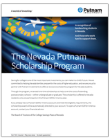 image of program for Nevada residents brochure