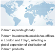 1983 - Putnam establishes offices in London and Tokyo