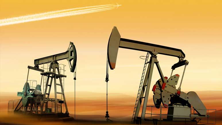 Oil bubbles up
