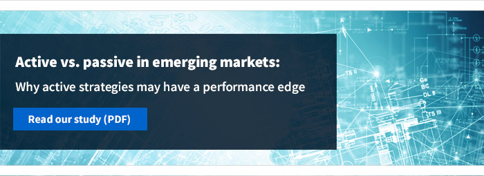 Active vs. passive in emerging markets