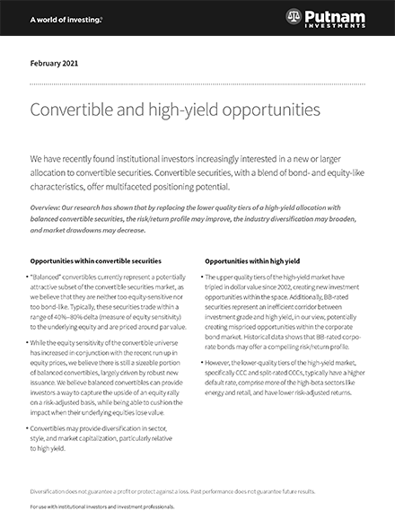 Convertible and high-yield opportunities