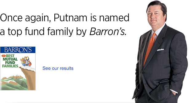 Putnam takes a top spot in Barron's performance rankings