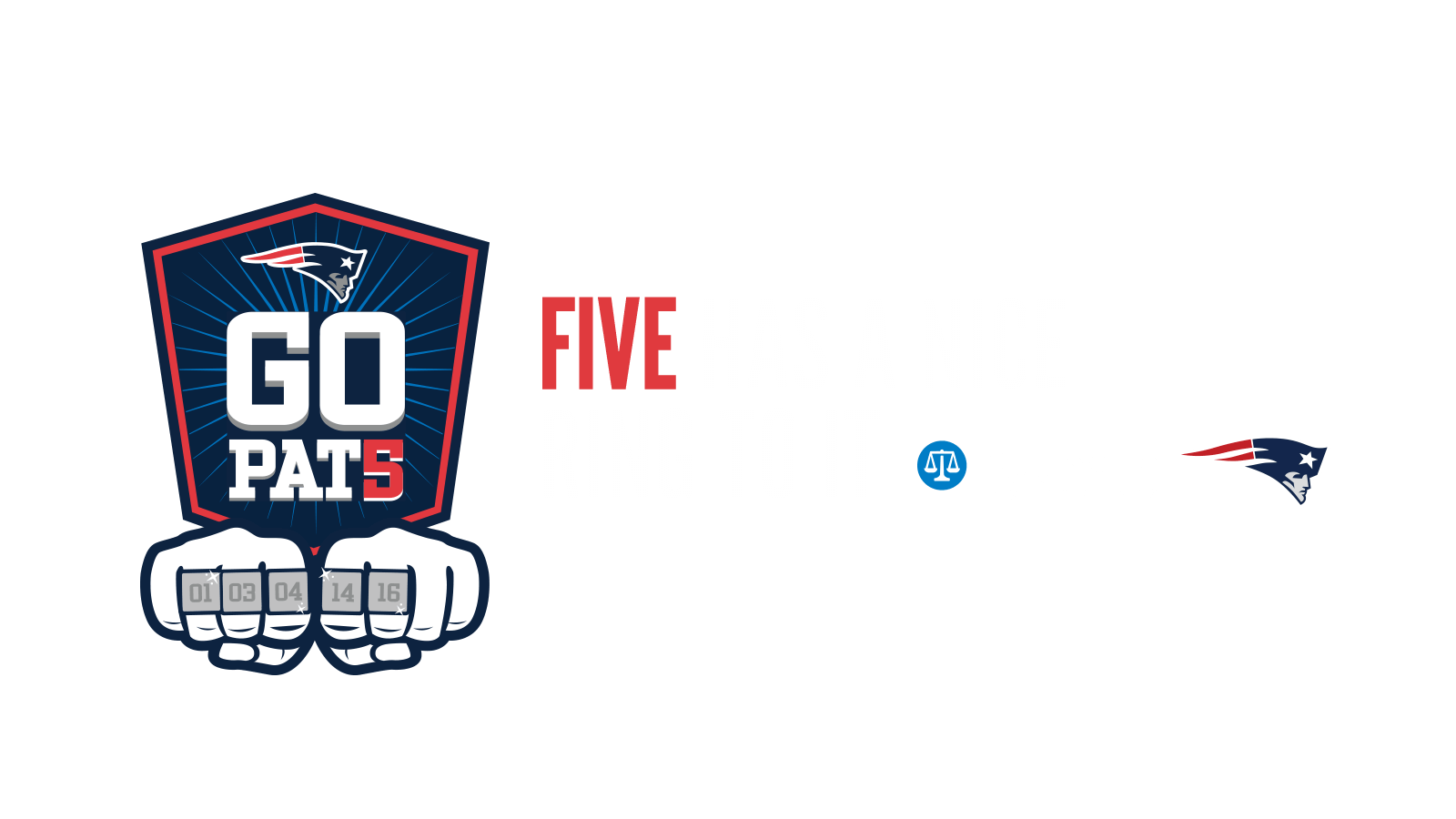 Five has a nice ring to it.  Go pats.